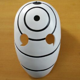 Naruto Tobi Uchiha Obito White Cosplay Mask 1- Orezoria Aesthetic Outfits Shop - Aesthetic Clothing - eGirl Outfits - Soft Girl Outfits