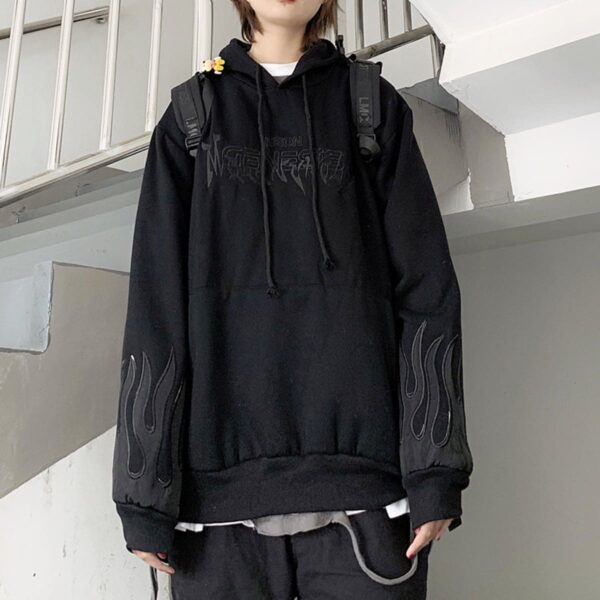 Neon Genesis Oversized Korean Hoodie 1 - Orezoria Aesthetic Outfits Shop - Aesthetic Clothing - eGirl Outfits - Soft Girl Outfits