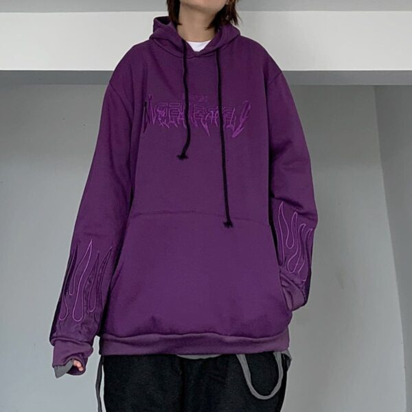 Neon Genesis Oversized Korean Hoodie 2 - Orezoria Aesthetic Outfits Shop - Aesthetic Clothing - eGirl Outfits - Soft Girl Outfits