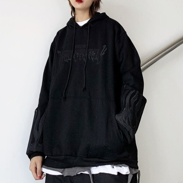 Neon Genesis Oversized Korean Hoodie 3 - Orezoria Aesthetic Outfits Shop - Aesthetic Clothing - eGirl Outfits - Soft Girl Outfits