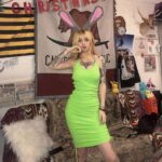 Neon Green Neck Chain Short Dress 1 - Orezoria Aesthetic Outfits Shop - Aesthetic Clothing - eGirl Outfits - Soft Girl Outfits