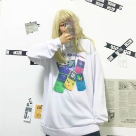 Nintendo Game Boy Retro Style Sweatshirt 1- Orezoria Aesthetic Outfits Shop - Aesthetic Clothing - eGirl Outfits - Soft Girl Outfits