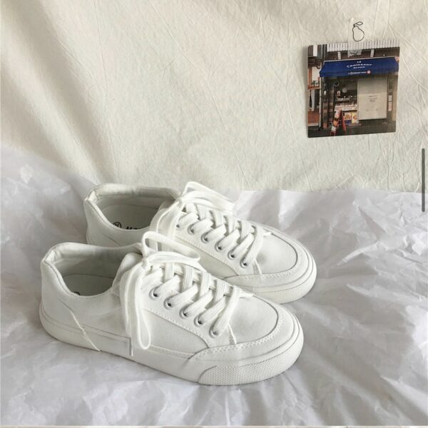 Normcore Aesthetic Canvas Sneakers.1- Orezoria Aesthetic Outfits Shop - Aesthetic Clothing - eGirl Outfits - Soft Girl Outfits