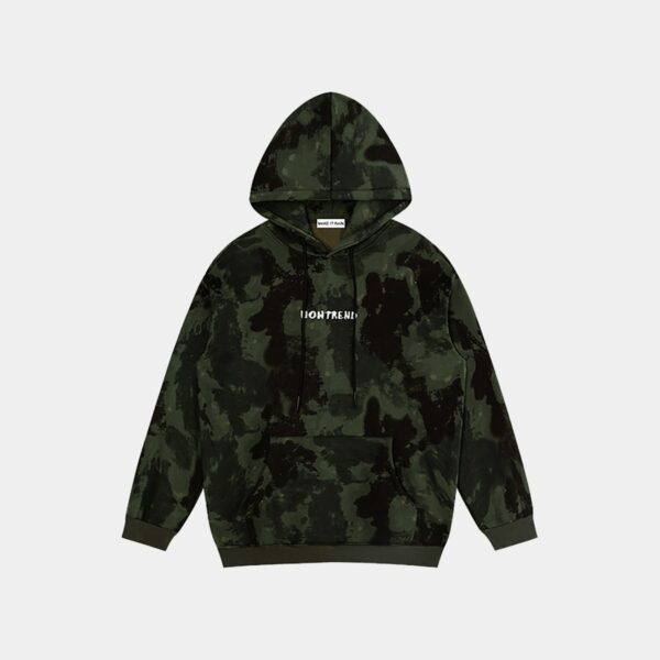 Now Trend Camo Tie Dye Ulzzang Hoodie - Orezoria Aesthetic Outfits Shop - Aesthetic Clothing - eGirl Outfits - Soft Girl