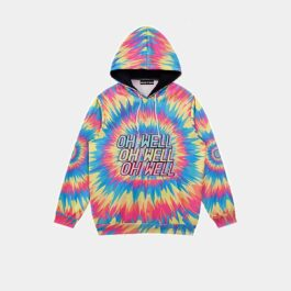 Oh Well Psychedelic Hoodie Rave Aesthetic.1- Orezoria Aesthetic Outfits Shop - Aesthetic Clothing - eGirl Outfits - Soft Girl Outfits