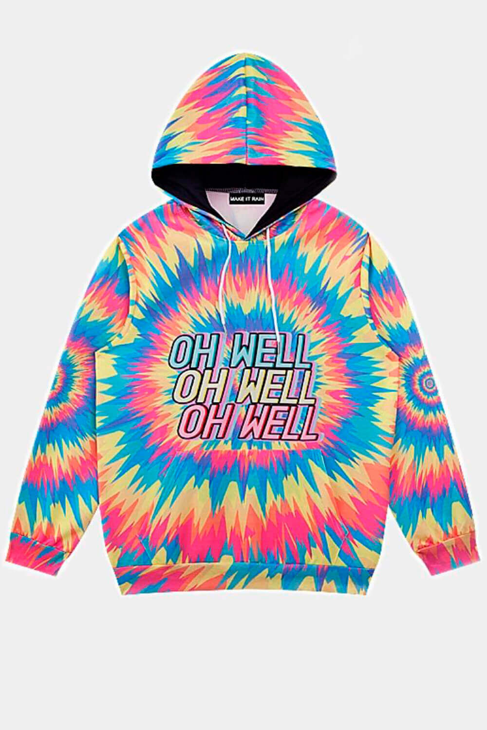 Oh Well Psychedelic Hoodie Rave Aesthetic