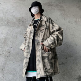 Oily Folded Tie Dye Oversized Jacket.1- Orezoria Aesthetic Outfits Shop - Aesthetic Clothing - eGirl Outfits - Soft Girl Outfits