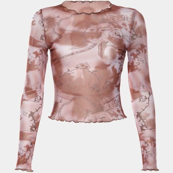 Old Sky Map Mesh Long Sleeve Top 11 - Orezoria Aesthetic Outfits Shop - Aesthetic Clothing - eGirl Outfits - Soft Girl Outfits.psd
