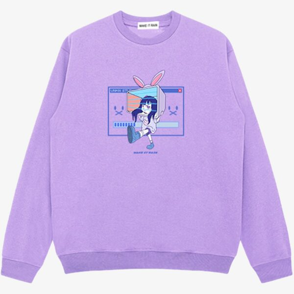 Ongoing Loading Cute Vaporwave Sweatshirt 1 - Orezoria Aesthetic Outfits Shop - Aesthetic Clothing - eGirl Outfits - Soft Girl Outfits