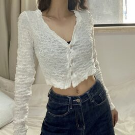 Open Clavicle Top 80s Aesthetic 4- Orezoria Aesthetic Outfits Shop - Aesthetic Clothing - eGirl Outfits - Soft Girl Outfits