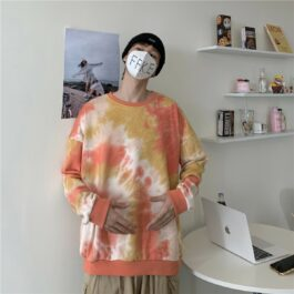 Orange Soft Girl Aesthetic Tie Dye Hoodie - Orezoria Aesthetic Outfits Shop - Aesthetic Clothing - eGirl Outfits - Soft Girl Outfits.psd