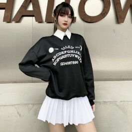 Ouija Board Salem Witch School Sweatshirt 1- Orezoria Aesthetic Outfits Shop - Aesthetic Clothing - eGirl Outfits - Soft Girl Outfits