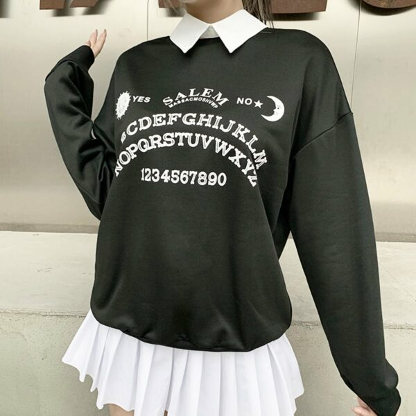 Ouija Board Salem Witch School Sweatshirt 4- Orezoria Aesthetic Outfits Shop - Aesthetic Clothing - eGirl Outfits - Soft Girl Outfits