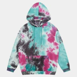 Outer Worlds Tie Dye Skater Hoodie 1- Orezoria Aesthetic Outfits Shop - Aesthetic Clothing - eGirl Outfits - Soft Girl Outfits