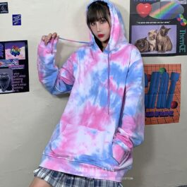 Oversized Korean Grunge Tie Dye Hoodie - Orezoria Aesthetic Outfits Shop - Aesthetic Clothing - eGirl Outfits - Soft Girl Outfits.psd