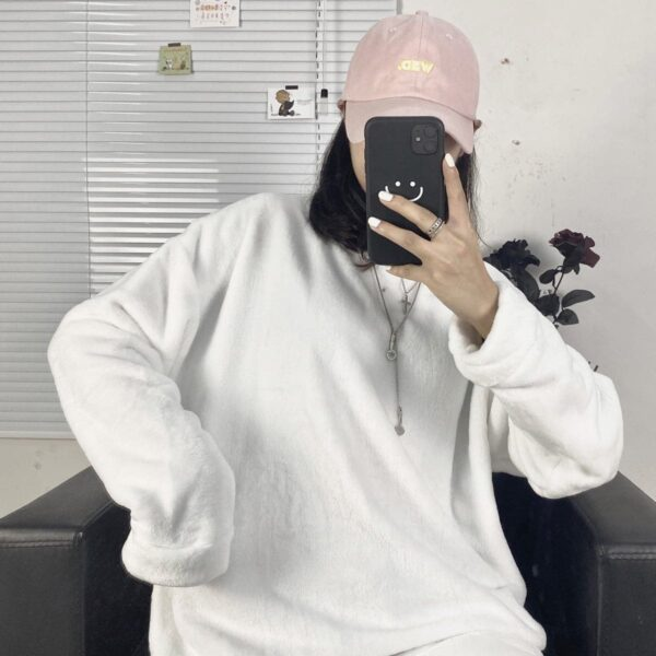 Oversized Warm Soft Plush Sweater 2 - Orezoria Aesthetic Outfits Shop - Aesthetic Clothing - eGirl Outfits - Soft Girl Outfits