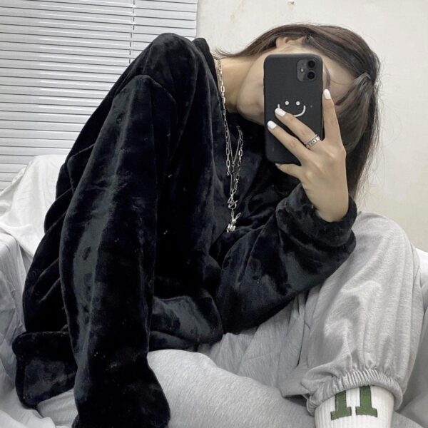 Oversized Warm Soft Plush Sweater 3 - Orezoria Aesthetic Outfits Shop - Aesthetic Clothing - eGirl Outfits - Soft Girl Outfits