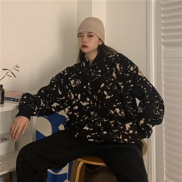 Paint Splash Oversized Korean Hoodie 3- Orezoria Aesthetic Outfits Shop - Aesthetic Clothing - eGirl Outfits - Soft Girl Outfits