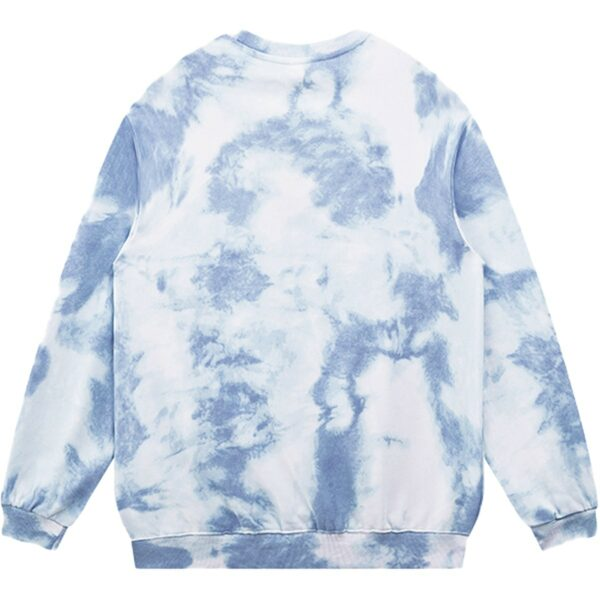 Pale Grunge Butterfly Tie Dye Sweatshirt 3 - Orezoria Aesthetic Outfits Shop - Aesthetic Clothing - eGirl Outfits - Soft Girl Outfits