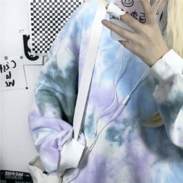 Pale Grunge Tie Dye Loose Sweatshirt 2 - Orezoria Aesthetic Outfits Shop - Aesthetic Clothing - eGirl Outfits - Soft Girl Outfits