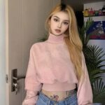 Perfect Soft Pink VSCO Girl Crop Sweater.1- Orezoria Aesthetic Outfits Shop - Aesthetic Clothing - eGirl Outfits - Soft Girl Outfits