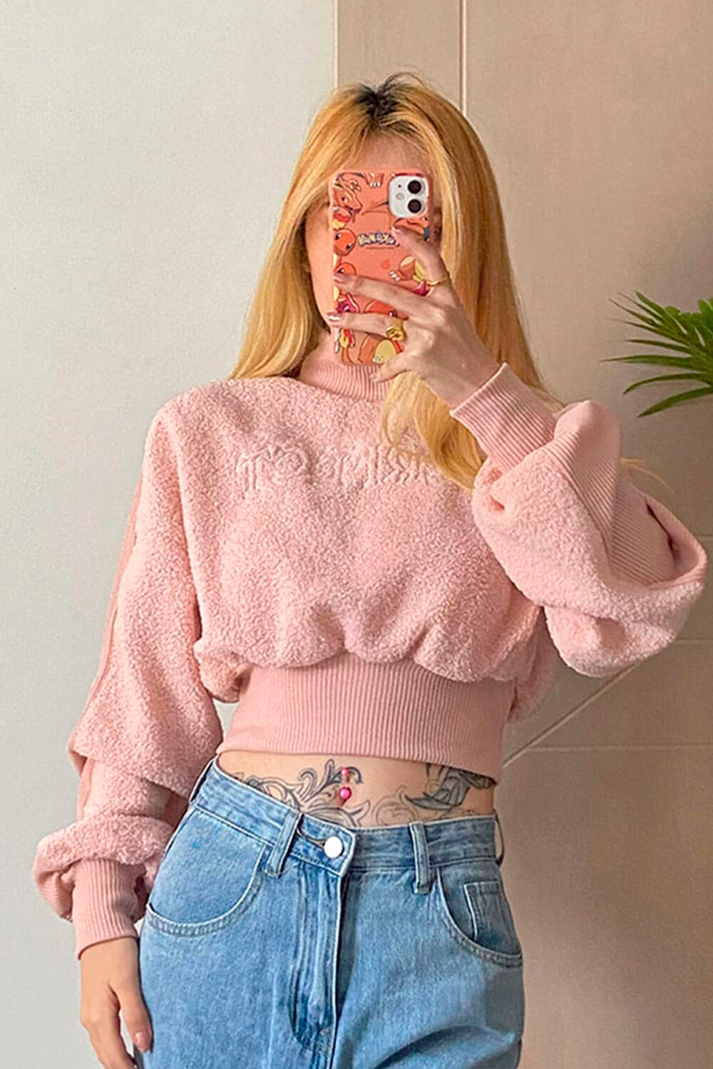 Perfect Soft Pink VSCO Girl Crop Sweater