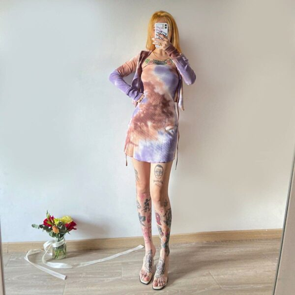 Phantom Tie Dye Two Piece Dress - Orezoria Aesthetic Outfits Shop - Aesthetic Clothing - eGirl Outfits - Soft Girl Outfits.psd