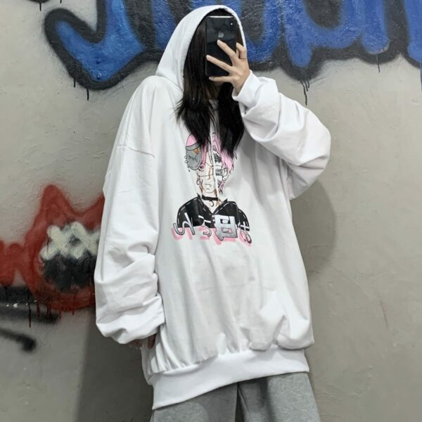 Pink Hair Wounded Anime Guy Hoodie 4 - Orezoria Aesthetic Outfits Shop - Aesthetic Clothing - eGirl Outfits - Soft Girl Outfits.psd