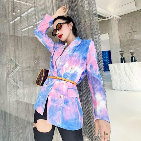Pink and Blue Eternal Te Dye Jacket 1- Orezoria Aesthetic Outfits Shop - Aesthetic Clothing - eGirl Outfits - Soft Girl Outfits