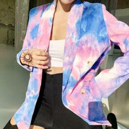Pink and Blue Eternal Te Dye Jacket 2- Orezoria Aesthetic Outfits Shop - Aesthetic Clothing - eGirl Outfits - Soft Girl Outfits