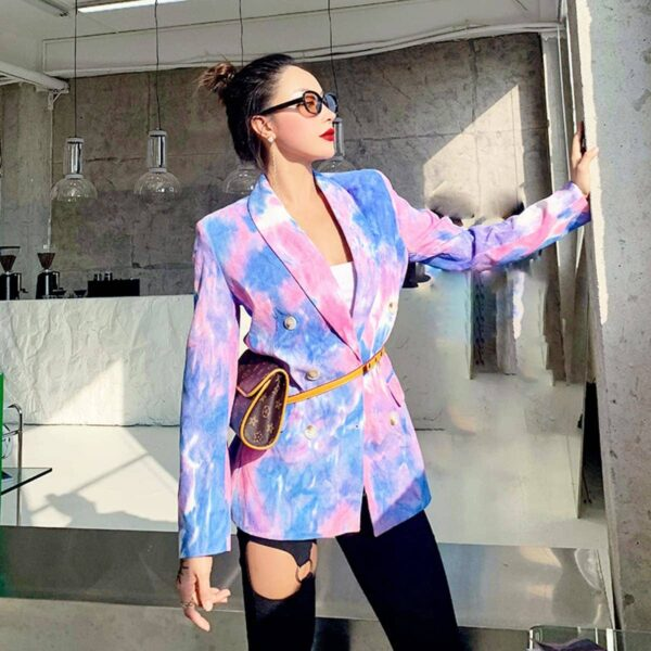 Pink and Blue Eternal Te Dye Jacket 3- Orezoria Aesthetic Outfits Shop - Aesthetic Clothing - eGirl Outfits - Soft Girl Outfits