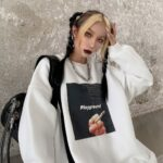 Playground Bad Core Oversized Hoodie.1- Orezoria Aesthetic Outfits Shop - Aesthetic Clothing - eGirl Outfits - Soft Girl Outfits