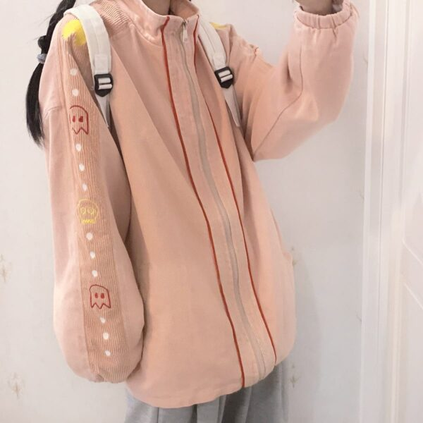 Ppac-Man Sleeves Gamer Core Jacket 1- Orezoria Aesthetic Outfits Shop - Aesthetic Clothing - eGirl Outfits - Soft Girl Outfits