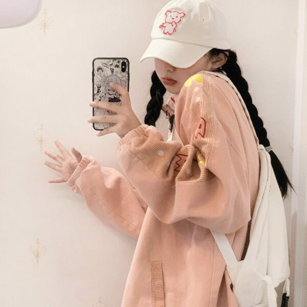 Ppac-Man Sleeves Gamer Core Jacket 2- Orezoria Aesthetic Outfits Shop - Aesthetic Clothing - eGirl Outfits - Soft Girl Outfits