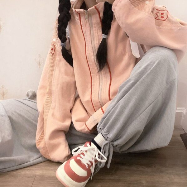 Ppac-Man Sleeves Gamer Core Jacket 3- Orezoria Aesthetic Outfits Shop - Aesthetic Clothing - eGirl Outfits - Soft Girl Outfits