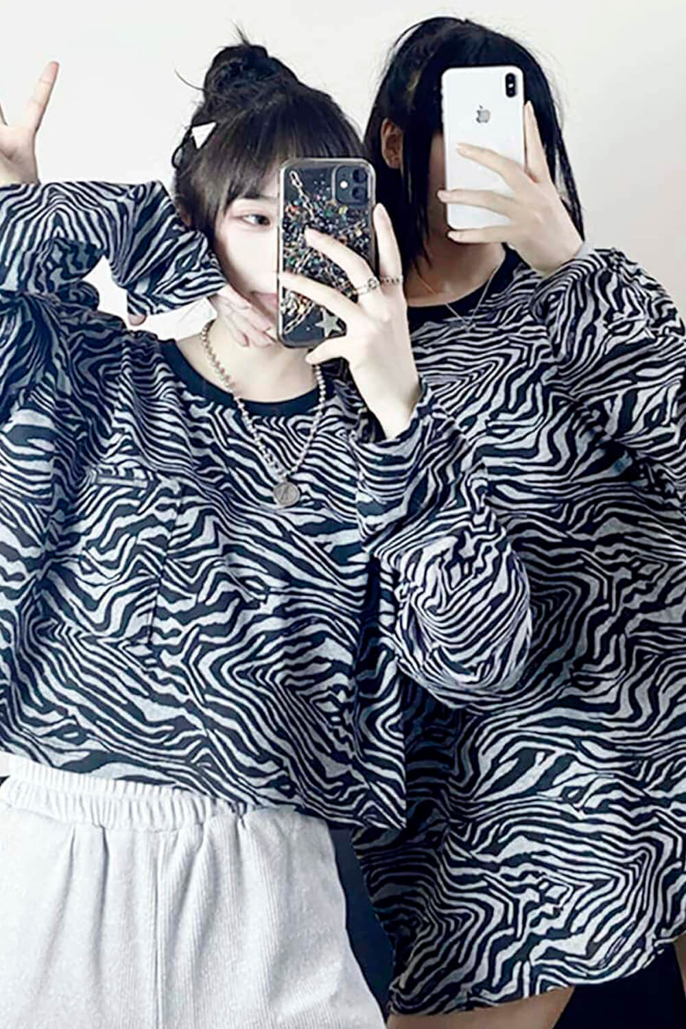 Psychedelic Tiger Wave Long Sleeve
