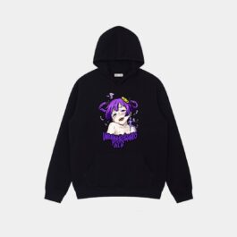 Purple Hair Anime Girl Ahegao Hoodie 1 - Orezoria Aesthetic Outfits Shop - Aesthetic Clothing - eGirl Outfits - Soft Girl Outfits.psd