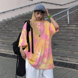Purple Haze Tie Dye Oversized T-Shirt - Orezoria Aesthetic Outfits Shop - Aesthetic Clothing - eGirl Outfits - Soft Girl Outfits.psd