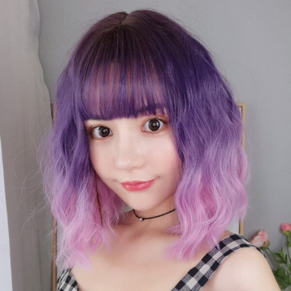 Purple Pink Gradient EGirl Aesthetic Wig 1- Orezoria Aesthetic Outfits Shop - Aesthetic Clothing - eGirl Outfits - Soft Girl Outfits (1)