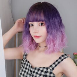 Purple Pink Gradient EGirl Aesthetic Wig 1- Orezoria Aesthetic Outfits Shop - Aesthetic Clothing - eGirl Outfits - Soft Girl Outfits (3)