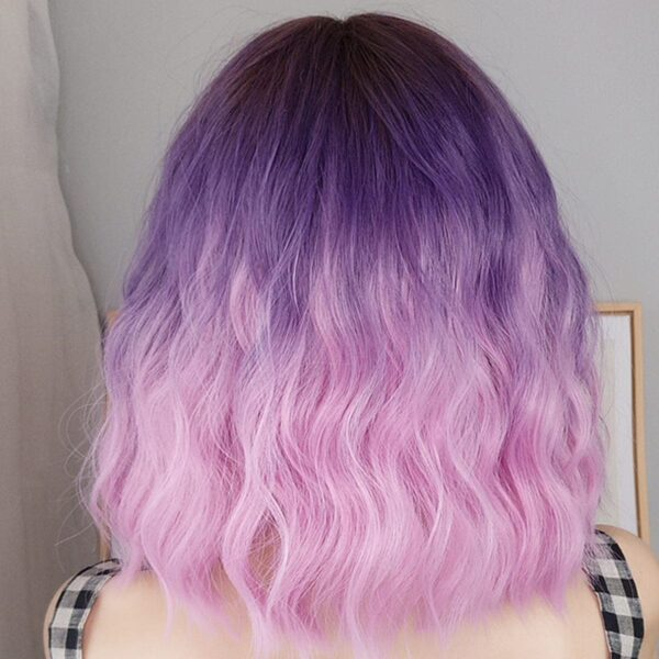Purple Pink Gradient EGirl Aesthetic Wig 1- Orezoria Aesthetic Outfits Shop - Aesthetic Clothing - eGirl Outfits - Soft Girl Outfits (4)
