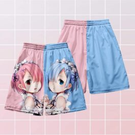 RE Zero Sisters Ram and Rem Aesthetic Shorts (1)- Orezoria Aesthetic Outfits Shop - Aesthetic Clothing - eGirl Outfits - Soft Girl Outfits