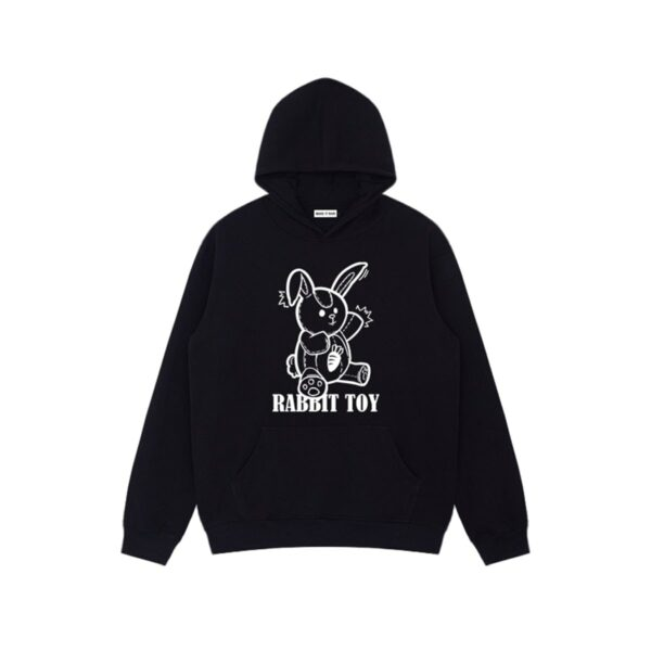 Rabbit Toy Oversized Cute Hoodie.1- Orezoria Aesthetic Outfits Shop - Aesthetic Clothing - eGirl Outfits - Soft Girl Outfits