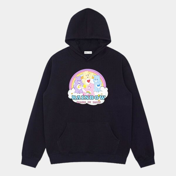 Rainbow Aesthetic Care Bears Hoodie 3- Orezoria Aesthetic Outfits Shop - Aesthetic Clothing - eGirl Outfits - Soft Girl Outfits
