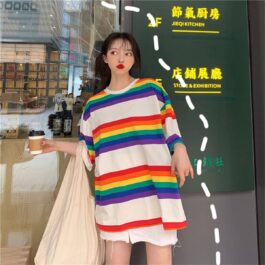 Rainbow Aesthetic Oversized T-Shirt 4- Orezoria Aesthetic Outfits Shop - Aesthetic Clothing - eGirl Outfits - Soft Girl Outfits.psd