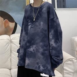 Rainy Clouds Tie Dye Oversized Long Sleeve 1- Orezoria Aesthetic Outfits Shop - Aesthetic Clothing - eGirl Outfits - Soft Girl Outfits