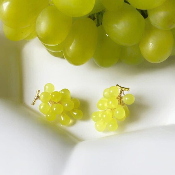 Realistic Grape Earrings Fruit Aesthetic 3- Orezoria Aesthetic Outfits Shop - Aesthetic Clothing - eGirl Outfits - Soft Girl Outfits (2)