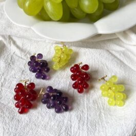 Realistic Grape Earrings Fruit Aesthetic 3- Orezoria Aesthetic Outfits Shop - Aesthetic Clothing - eGirl Outfits - Soft Girl Outfits (3)