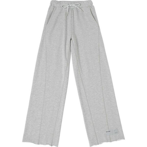 Reflective Lace Loose Gray Pants 1- Orezoria Aesthetic Outfits Shop - Aesthetic Clothing - eGirl Outfits - Soft Girl Outfits