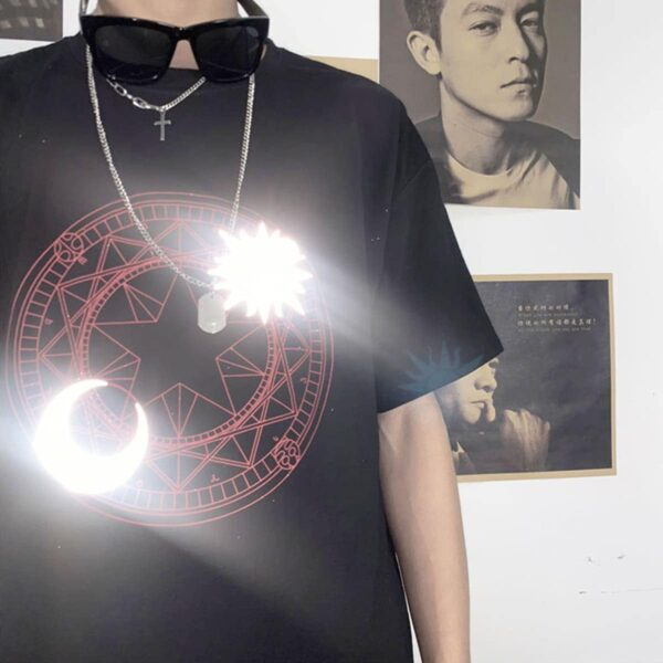 Reflective Sun and Moon Celestial T-Shirt 4 - Orezoria Aesthetic Outfits Shop - Aesthetic Clothing - eGirl Outfits - Soft Girl Outfits